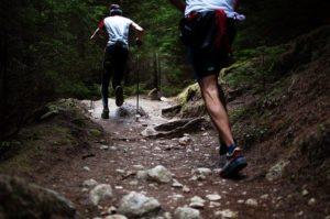 men hiking - leg muscles